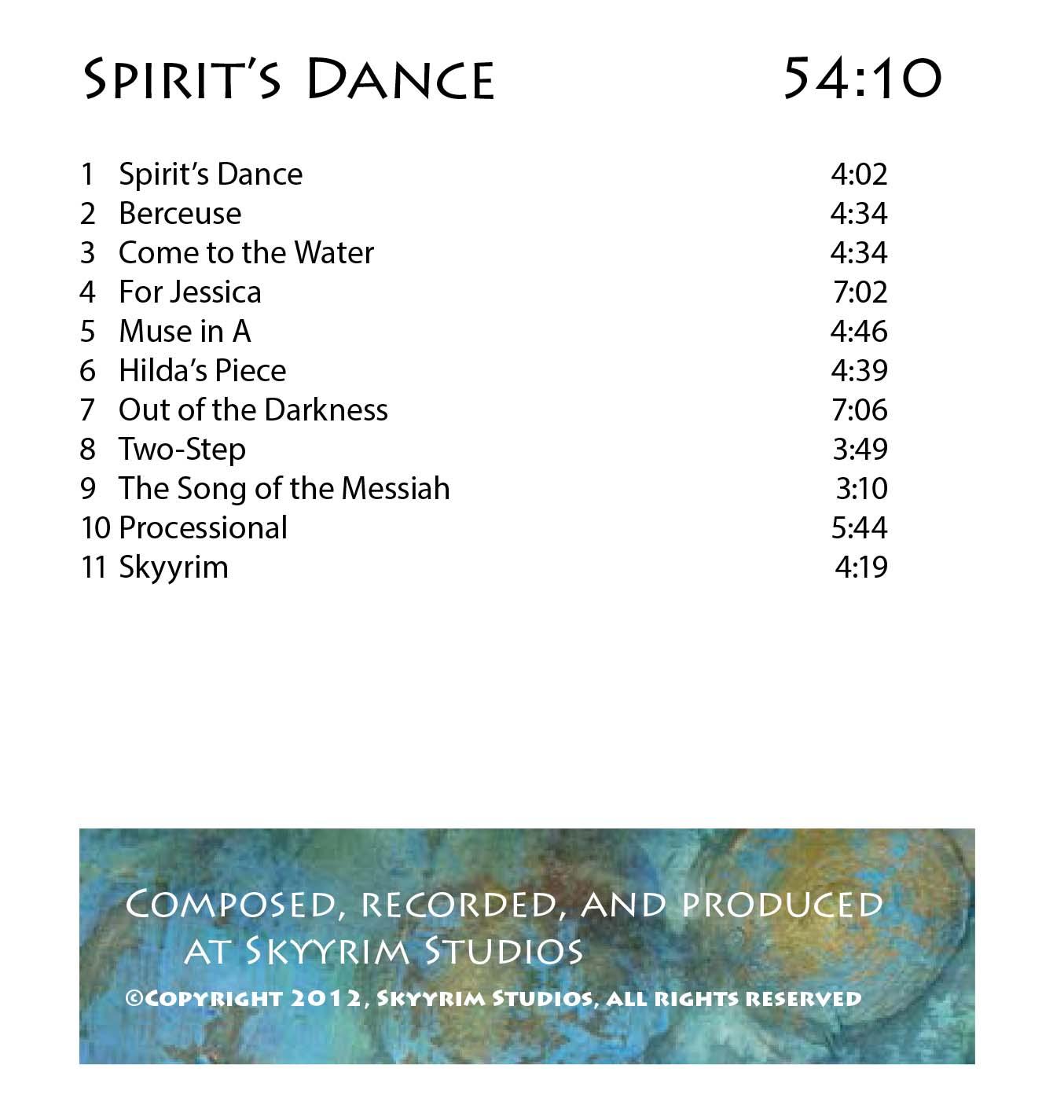 Spirits-Dance-play-list
