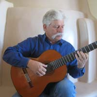 Neihardt playing guitar