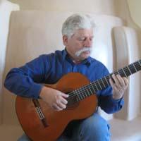 Neihardt playing guitar