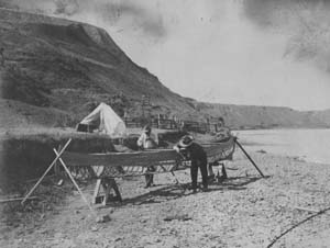 1908 Missouri River canoe